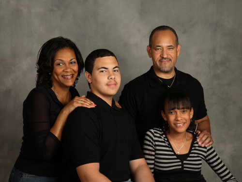 Micheal and Chevalier Davenport family